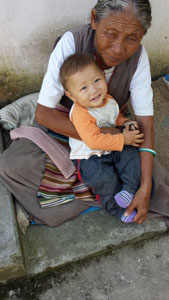 Pau Wangchuk's wife and grandson