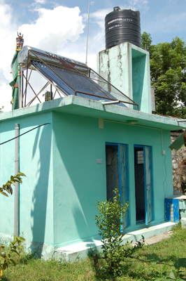 Toilet and Solar Shower